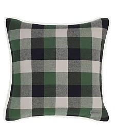 Eddie Bauer Finley Plaid Dark Pine Square Pillow
