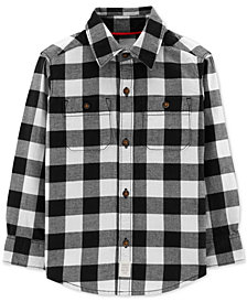 Carter's Toddler Boys Checked Cotton Shirt
