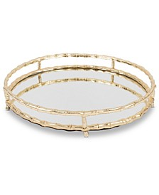 Round Bamboo Vanity Tray