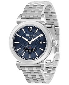 Ferragamo Men's Swiss Feroni Stainless Steel Bracelet Watch 40mm