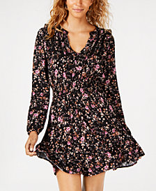 American Rag Juniors' Floral-Print Smocked-Waist Dress, Created for Macy's