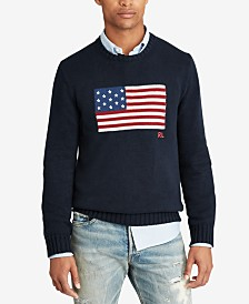 Polo Ralph Lauren Men's Big & Tall Flag Cotton Sweater