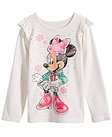 Disney Toddler Girls Minnie Mouse Snowflake T-Shirt