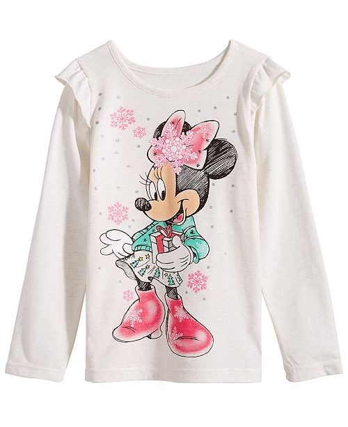 68847b0ac65ac Disney Little Girls Minnie Mouse Snowflake T-Shirt & Reviews - Shirts ...