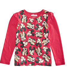 Disney Toddler Girls Minnie & Mickey Mouse T-Shirt