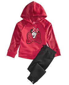 Disney Little Girls 2-Pc. Minnie Mouse Hoodie & Pants Set