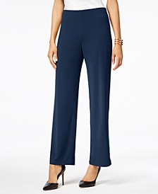 Petite Knit Wide-Leg Pant, Created for Macy's