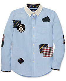 Polo Ralph Lauren Big Boys Patchwork Oxford Cotton Shirt