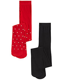Trimfit Toddler, Little & Bigs Girls 2-Pk. Heart-Print Tights