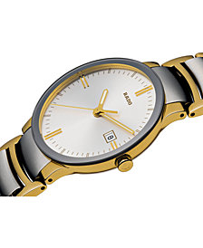 Rado Watch, Men's Swiss Centrix Two-Tone Stainless Steel Bracelet 38mm R30931103