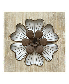 Stratton Home Decor Rustic Flower Wall Decor I