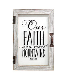 Stratton Home Decor Our Faith Can Move Mountains Printed Glass Decor