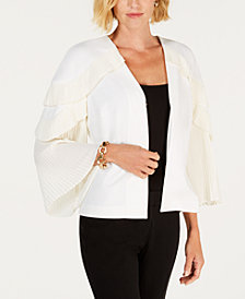 Alfani Pleated-Sleeve Jacket, Created for Macy's