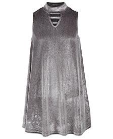 Epic Threads Big Girls Mock-Neck Velvet Swing Dress, Created for Macy's