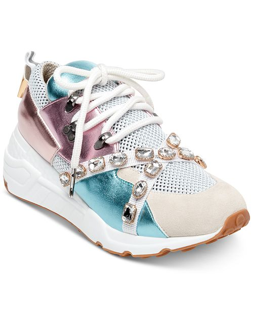 2a681db31b3 Steve Madden Women s Credit Jeweled Sneakers   Reviews ...