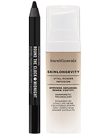 Receive a FREE Trial-Size Skinlongevity & Eyeliner Duo with any $60 bareMinerals purchase