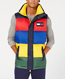 Tommy Hilfiger Men's Oversized Colorblocked Down Puffer Vest, Created for Macy's