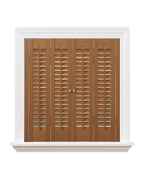 "US Shade & Shutter Traditional Faux Wood Interior Shutter, 27-29""  W x 20"""