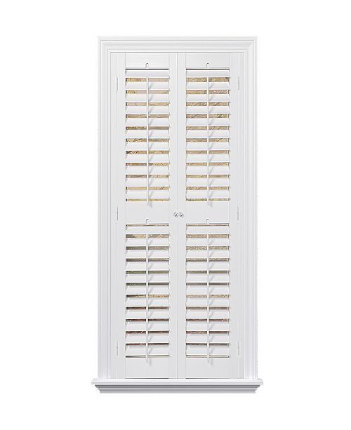 "US Shade & Shutter Plantation Faux Wood Interior Shutter, 35-37""  W x 74"""