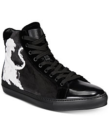 Roberto Cavalli Men's High-Top Velvet Sneakers