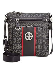 Giani Bernini Block Signature Stripe Crossbody, Created for Macy's