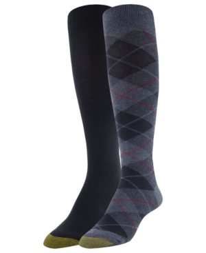 Image of Gold Toe 2-Pk. Plaid Knee-High Socks