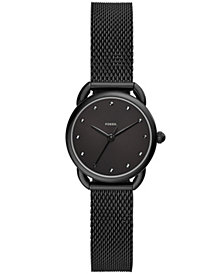 Fossil Women's Tailor Black Stainless Steel Mesh Bracelet Watch 26mm