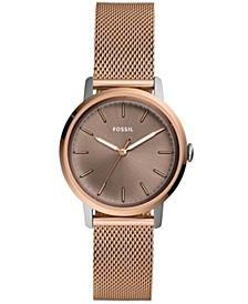 Women's Neely Rose Gold-Tone Stainless Steel Mesh Bracelet Watch 34mm