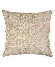 Sea Foam Tree of Life Applique Pillow