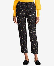 Lauren Ralph Lauren Floral-Print Skinny Crop Pants