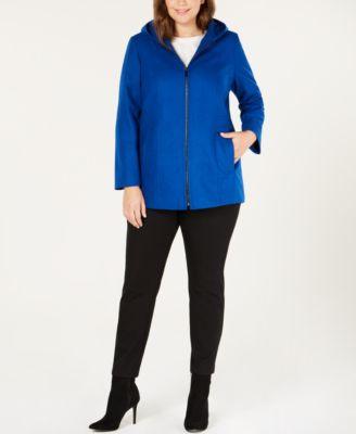Plus Size Hooded Coat