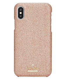 kate spade new york Glitter Hard iPhone X Case