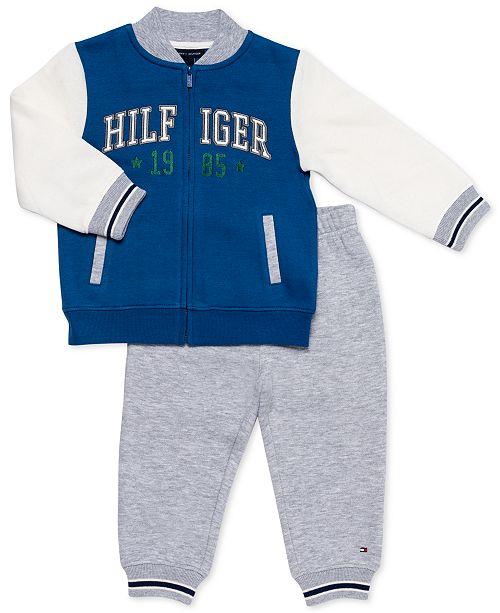 90c0d46fd0167 Tommy Hilfiger Baby Boys 2-Pc. Fleece Jacket & Jogger Pants Set ...