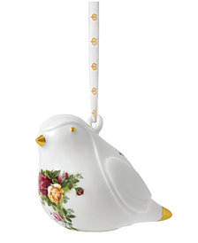 Royal Albert Old Country Roses Robin Ornament