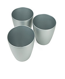 Mind Reader 3 pc Multi Purpose Trash Bin Set, Silver