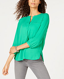 JM Collection Pleated-Back Blouse, Created for Macy's