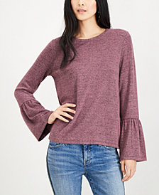 Lucky Brand Jersey Bell-Sleeve Top