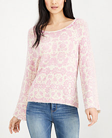 Lucky Brand Embroidered Printed Top