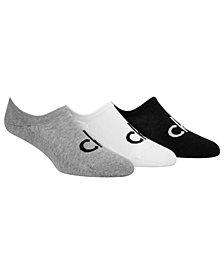 Calvin Klein Men's 3-Pk. Cushioned Logo Liner Socks