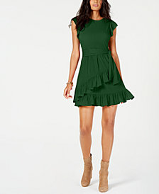 MICHAEL Michael Kors Ruffled Faux-Wrap Dress
