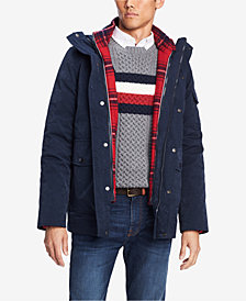 Tommy Hilfiger Men's Traveler Hooded Coat with Removable Plaid Jacket, Created for Macy's