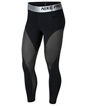 c62459dcf2 Nike Pro Warm Colorblocked Metallic Ankle Leggings