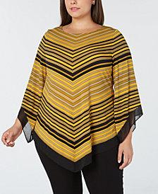 Alfani Plus Size Asymmetrical-Hem Top, Created for Macy's