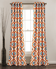 "Diamond Ikat 84"" x 52"" Room Darkening Window Curtain Set"