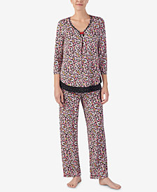 Ellen Tracy Printed Pajama Top