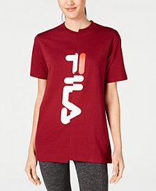 Fila Cotton Spliced-Logo T-Shirt
