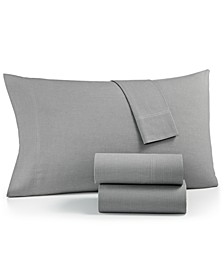 Sleep Soft Cotton 200 Thread Count 4-Pc. Yarn Dyed Full Sheet Set, Created for Macy's