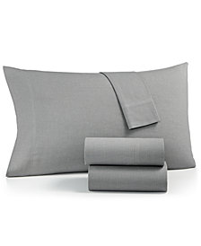 Charter Club SleepSoft Cotton 200 Thread Count 4-Pc. Yarn-Dyed Full Sheet Set, Created for Macy's