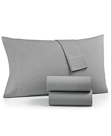 CLOSEOUT! Charter Club Sleep Soft Cotton 200 Thread Count 3-Pc. Yarn Dyed Twin Sheet Set, Created for Macy's