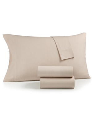 Image of Charter Club Sleep Soft Cotton 200 Thread Count 3-Pc. Yarn Dyed Twin Sheet Set, Created for Macy's Bedding